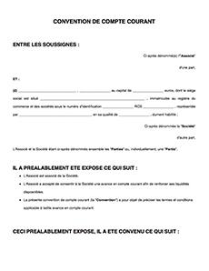 Convention De Compte Courant D Associe Legalplace