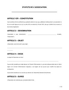 Statuts D Association Exemple De Modele A Telecharger