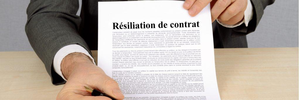 Modèle lettre de résiliation de contrat de prestation de service