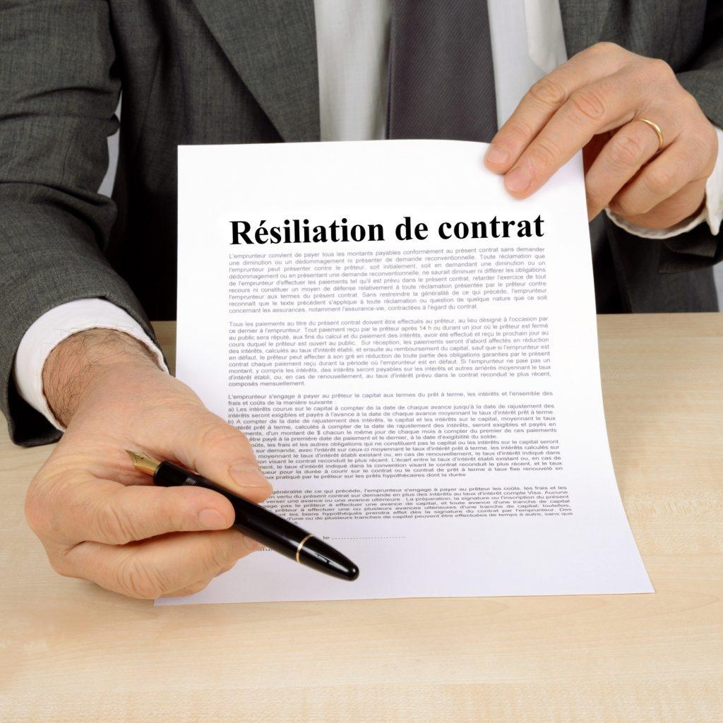 mod u00e8le lettre de r u00e9siliation de contrat de prestation de
