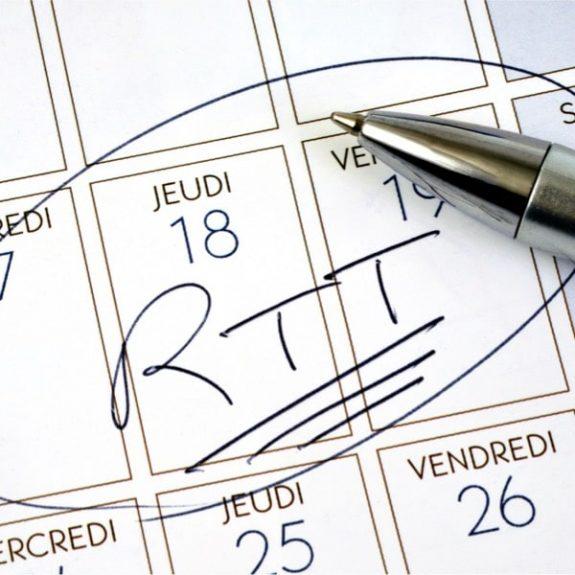 Calcul des RTT au forfait jours